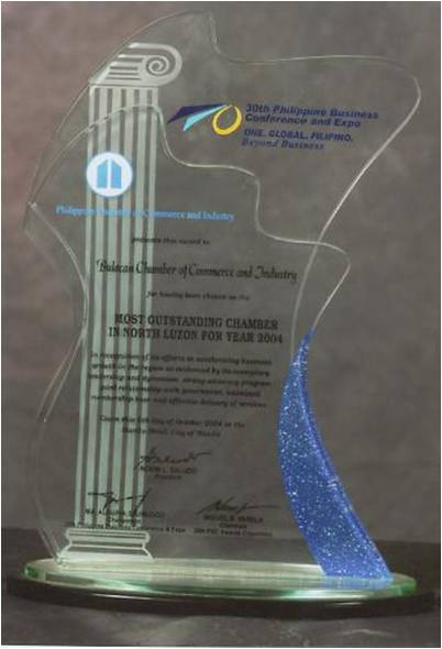 Most Outstanding Chamber in North Luzon Year 2004