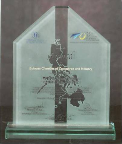Most Outstanding Chamber in North Luzon Year 2002